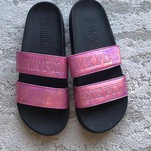 Victoria's Secret PINK Strap Slides - like new!